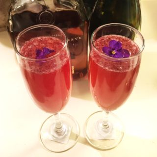 Blackberry Bourbon Bubbles
