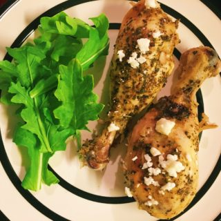 Lemon Feta Drumsticks