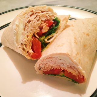 Turkey, Roasted Red Pepper, Spinach & Cheese Wrap
