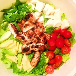 Grilled Chicken Avocado Caprese Salad