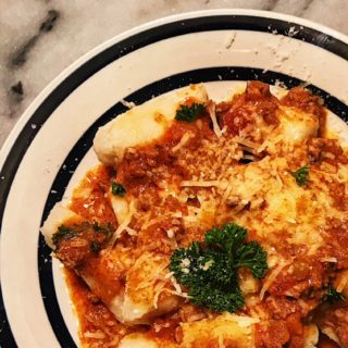 Handmade Gnocchi with Bolognese Sauce